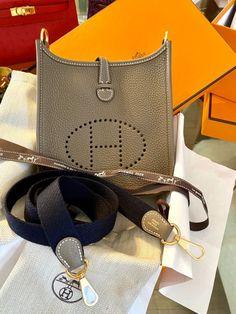 HERMÉS MINI EVELYNE ETAINCLÉMENCE LEDER PHW Fendi, Gucci, Celine, Dior, Louis Vuitton, Chanel, Go Online, Couture, Luxury Handbags