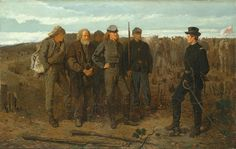 Winslow HomerPrisoners from the Front 1866Oil on canvas 24 x 38 in Metropolitan Museum of Art, New York  For Homer, the end of the war meant the beginning of a new era. ... Winslow homer #America #painting