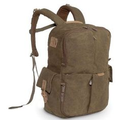 "National Geographic Rucksack.  Contains special padded spots for a laptop (up to 15"") and a DSLR camera, plus it's got enough pockets and space to take camping."