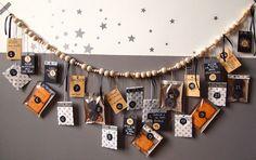 Orange black and white advent calendar Advent Calenders, Diy Advent Calendar, Christmas Events, Dollar Store Christmas, Christmas Calendar, Christmas Countdown, Christmas Projects, Christmas Diy, Envelopes