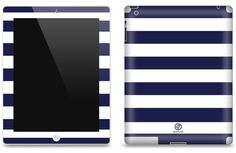iPad Matte Skin with Stripes - also available in camoflage, Aztec, black & white & Polka dots.  Protects against scratches, scuffs & dirt.