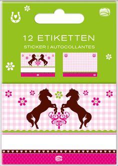 Etiketten Set Pferde bei www.party-princess.de