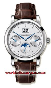 A. Lange and Sohne - Saxonia Annual Calendar - 330.026 (18-carat white gold / Solid silver, argenté Dial / Crocodile Leather) - See more at: http://www.worldofluxuryus.com/watches/A-Lange-and-Sohne/Saxonia/330.026/88_93_3825.php#sthash.3tckxR4J.dpuf