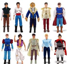 Disney 10 Classic Princess 10 Prince Doll Collection Barbie Ken Set Rapunzel   eBay