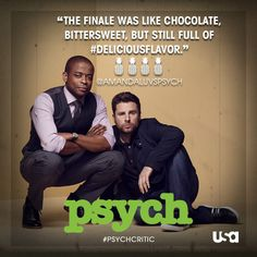 #MissedAlready ... Via Psych   · 3/28/14  Our last #Psych Critic says it best...