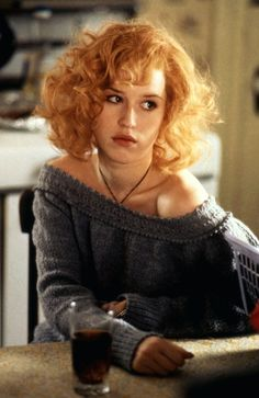 """As a Kentucky backwoods girl in this weird (and poorly performing) 1988 film, """"Fresh Horses."""" But her hair looked so amazing. 