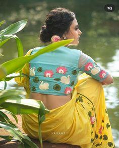 Saree Blouse Neck Designs, Bridal Blouse Designs, Blouse Patterns, Hand Work Blouse Design, Stylish Blouse Design, Traditional Blouse Designs, Hand Embroidery Designs, Painting, Sarees