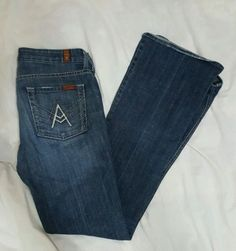 7-For-All-Mankind-Womens-Jeans-A-Pocket-28-Medium-Wash