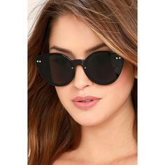 c3beb511b2f Spitfire Alpha 2 Black Sunglasses ( 45) ❤ liked on Polyvore featuring  accessories
