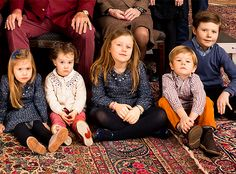 The Danish and Greek royals release a rare family photo from their Christmas celebrations