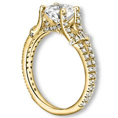PricePointShop presents 0.92ctw Round Brilliant SI2-SI3 Quality H-I Color Diamond with Accent Stone White Diamonds Engagement Ring. Appraisal Certificate Included #diamondEngagementRings #engagementrings #Rings #Ring  #jewelry #yellowgoldrings #Yellowgold #gold @pricepointshop http://www.pricepointshop.com/product.asp?idproduct=18834