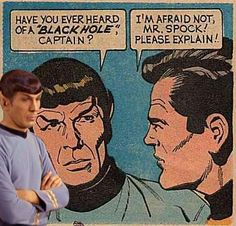 The original caption referred to Kirk not paying attention to astronomy 101. So yes, lol.