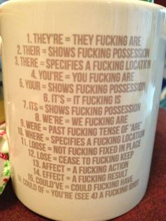 <b>Because everyone knows clever mugs make your coffee taste even better.</b> Contains some very NSFW crockery.