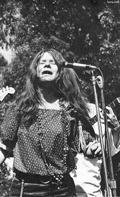 In the park. Janis Joplin with Big Brother and the Holding Company!