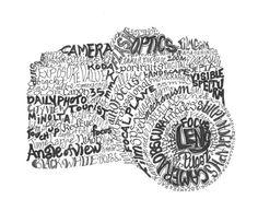 pasión de impresión por Joni James #camera #text #typography