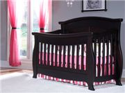 Combining a traditional design with an unexpected flair creates the Renaissance collection. Elegant curved posts create a warming nursery feel and a twist of fun. The convertible crib is constructed of complete solid wood inside and out.  This crib meets all the latest safety standards, and will be enjoyed for years to come as a toddler bed, and full-size adult bed. Coordinating dressers have solid wooden box drawers featuring dovetail joints and metal side mounted drawer glides.