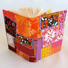 repurposed fabric covered journal #Upcycling #Clothes and #Ideas