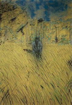 Francis Bacon (UK 1909-1992) Study of a Figure in a Landscape (1952) oil on canvas.