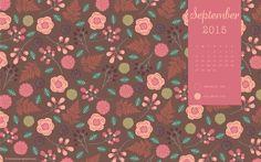 Bohemian Gypsy Jane: September 2015 Desktop Calendar