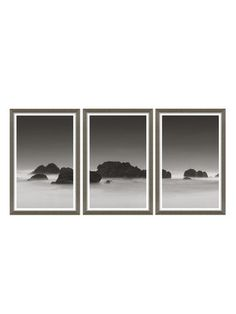 Soicher Marin Rocks in the Sea Triptych (Set of 3) (Framed Giclee)  Rocks in the Sea Triptych Giclee Print:   Archival giclee print on glass  Eco-friendly molding frame    Material:  Glass   Care:  Dust with a dry cloth   Brand:  Soicher Marin   Origin:  United States