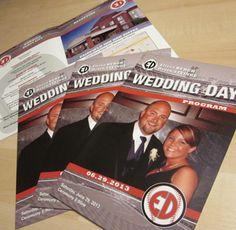 Baseball Themed Wedding - Custom Designed Wedding Programs  #baseballwedding #stwdotcom