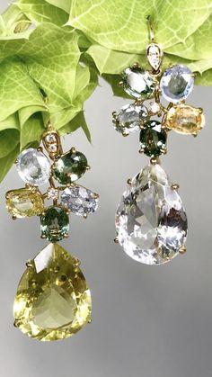Gems Jewelry, Jewelry Art, Diamond Jewelry, Gemstone Jewelry, Jewelry Accessories, Fashion Jewelry, Women Jewelry, Jewelry Design, Unique Jewelry