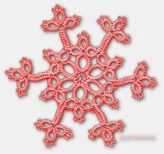 TATtle TALES Tatting Patterns: Tatted Snowflake Patterns: Christmas in July