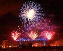 Middlesborough Transporter Bridge Fireworks by Reaction Fireworks