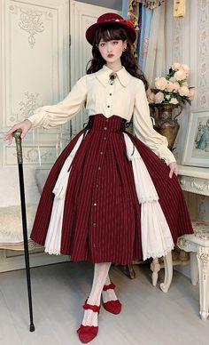 Harajuku Fashion, Kawaii Fashion, Lolita Fashion, Pretty Outfits, Pretty Dresses, Cute Outfits, Old Fashion Dresses, Fashion Outfits, Estilo Lolita