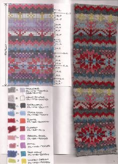 Love the colours in this fair isle pattern Fair Isle Knitting Patterns, Knitting Stiches, Knitting Charts, Knitting Designs, Knitting Yarn, Knit Patterns, Knitting Projects, Beading Patterns, Hand Knitting