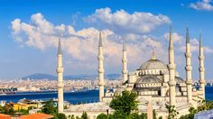 Turkey Blue Mosque located at Istanbul, former name TheSultan Ahmed MosqueorSultan Ahmet Mosque, famous landmark architecture building.