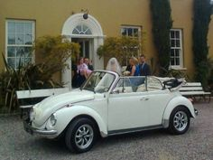 We hire out VW Campervans for Irish weddings. This is Samantha our 1973 VW Karmann Convertible Beetle. Please note this vehicle is only available for promotion purposes. Irish Wedding, Vw Camper, Vw Beetles, Classic White, Convertible, Antique Cars, Promotion, Vans, Note