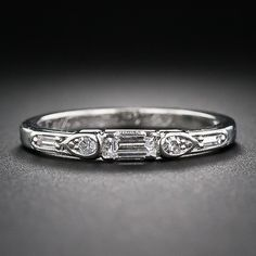 Art Deco Flat Engagment/Wedding Ring