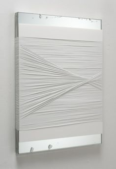 Justin Beal - Untitled (White Knot), 2011  in gallery, on mirror