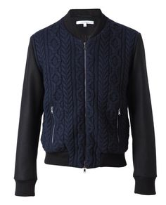 carven cable knit bomber.  Could I make this myself?