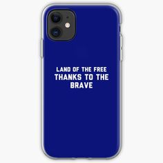 'Land of free' iPhone Case by HiberniaApparel Free Iphone Cases, Iphone 11, How To Buy Land, Classic T Shirts, It Works, My Arts, Art Prints, Type, Printed