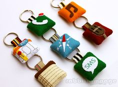 Icon Felt Keychains - All 7 Pieces (Etsy) $36