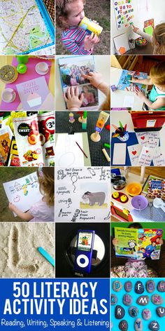 50 Early Literacy Playful Activity Ideas for Reading, Writing, Speaking & Listening