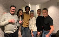 Dame Helen Mirren eschews glamour of Hollywood for night out in Bradford - and chronicles it on InstagramDame Helen with the cast Snow White including former Steps member Faye Tozer (second from right) CREDIT: INSTAGRAM