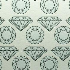 Diamond Letterpress Card in Light Blue/Black Graphic Design Illustration, Botanical Illustration, Textile Patterns, Print Patterns, Unique Wallpaper, Wallpaper Decor, Wallpaper Ideas, Art Beat, Novelty Print