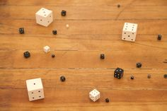 Peter Liversidge - Untitled (Black and White Dice) 2010 acrylic, poplar wood dimensions variable Hand Type, Dice, Black And White, Wood, Black N White, Woodwind Instrument, Cubes, Black White, Timber Wood