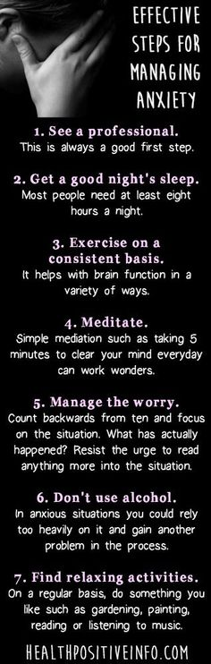 Effective Steps for Managing Anxiety http://healthpositiveinfo.com/effective-steps-for-managing-anxiety.html pinned with Pinvolve - pinvolve.co