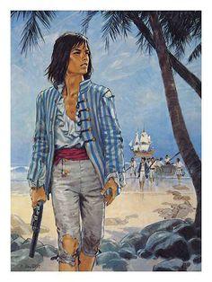 Pierre Joubert - La piraterie Pirate Wench, Pirate Woman, Norman Rockwell, Charles Vane, Long John Silver, Killian Jones, Sea Peoples, Pirate Art, Character Portraits