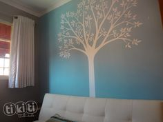White Tree Wall Decal. Wall Sticker for Nursery and Baby Rooms on Etsy, $69.00