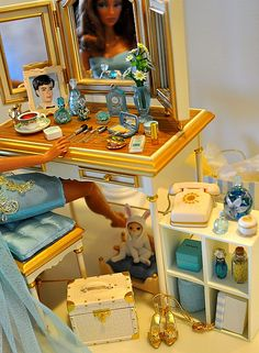 barbie vanity by deborah is lola, via Flickr 1:6th Scale