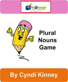 Plural Nouns Game - Games Notebook - Ebook