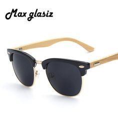 2016 New brand designer bamboo sunglasses wood for women men vintage glasses retro mens gafas oculos oculos de sol madeira - Vietees Shop Online - 1