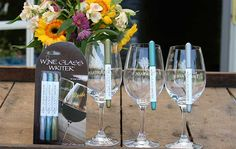 Wine glass markers, Wine glass pens, Wine gifts
