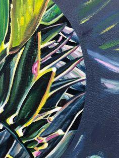 Claudia Gurwitz: Assemblage #5: fine art | StateoftheART Canvas Size, Original Artwork, Plant Leaves, Fine Art, Gallery, Artist, Painting, Roof Rack, Artists