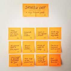 My Goal list and concept for Easter Weekend, hope the idea helps you too! I LOVE post-it's.